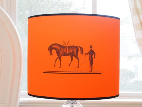 Orange Horse Lamp Shade