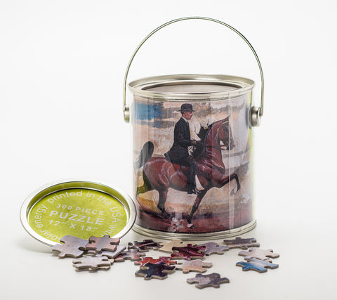 WGC CH Belle Le Rose Puzzle Pail and Puzzle Pieces