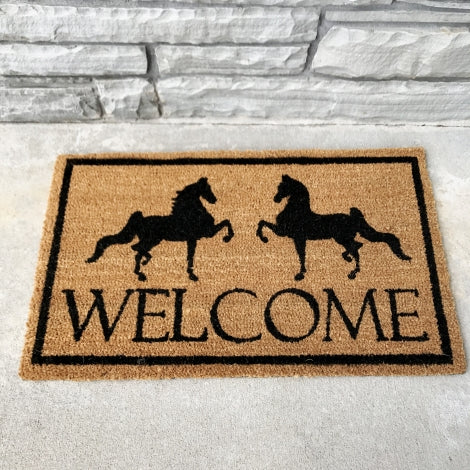 Two Horse Welcome Doormat