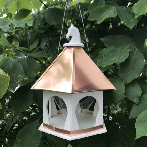 Copper Horse Bird Feeder
