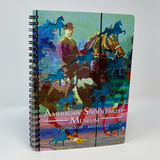 American Saddlebred Museum Spiral Notebook Cover with Horse and Rider Image and Cutout Horses at an Angle