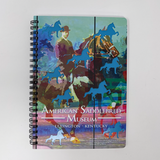 American Saddlebred Museum Spiral Notebook Cover with Horse and Rider Image and Cutout Horses