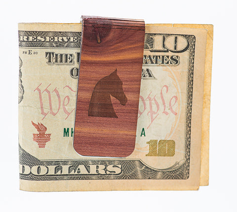 Woodchuck Saddlebred Horse Head Money Clip