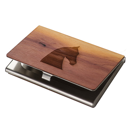 Woodchuck Saddlebred Horse Head Business Card Holder