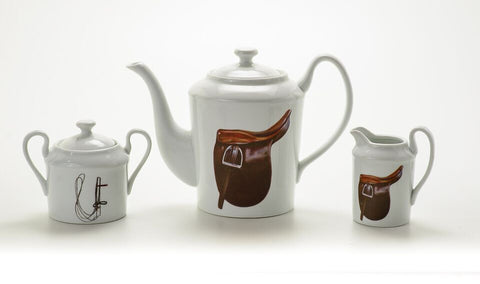 Saddle and Bridle Tea Set