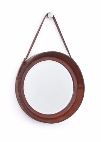 Equestrian Leather Mirror