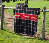 Horse Bit Plaid Throw