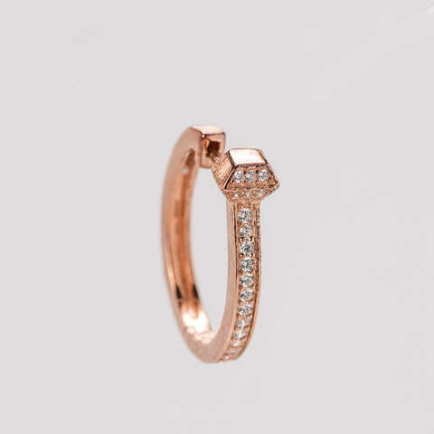 Horseshoe Nail Hoop Earrings Rose Gold