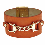 Chain Leather Cuff