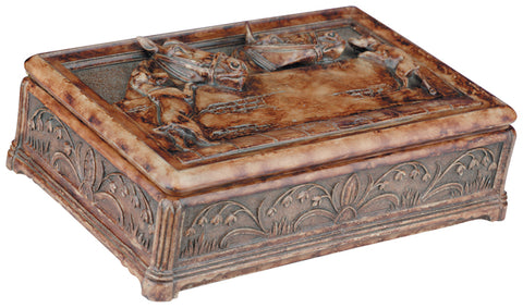 Carved Horses Stable Box