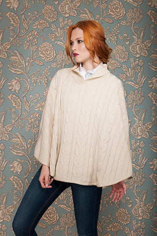Rönner Adriana Poncho Cream on Model