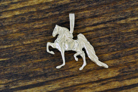 5 Gaited Saddlebred Pendant Sterling Silver