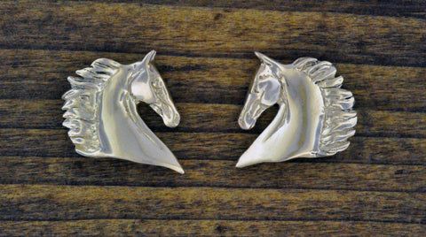 Saddlebred Horse Head Earrings Sterling Silver
