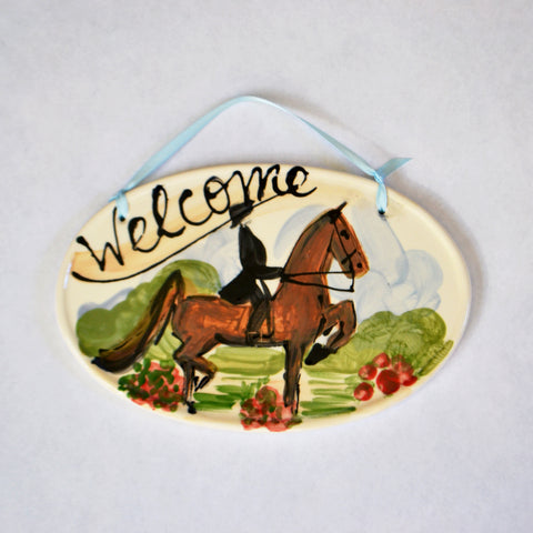 Frederique Saddlebred Welcome Sign