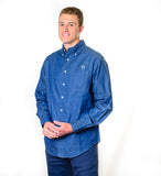 Men's American Saddlebred Museum Denim Shirt Navy