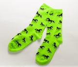 Horses All Over Socks Green