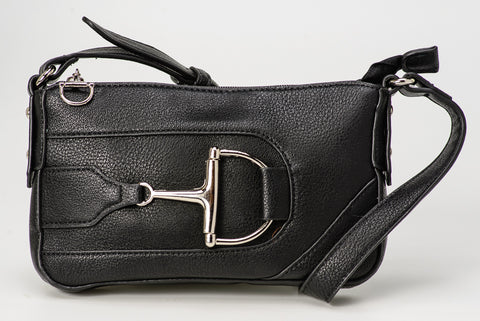 Snaffle Bit Shoulder Bag Black