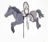 Horse Garden Spinner Dapple Grey