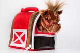 Plush Horse in Stable Carrier