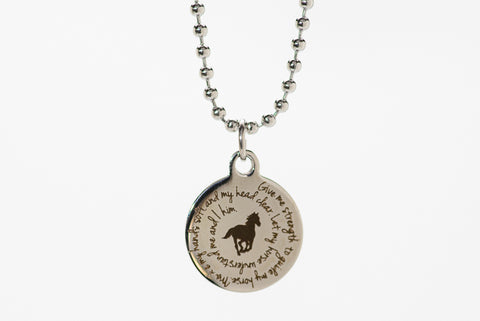Petite Rider's Prayer Necklace