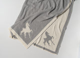 Saddlebred Horse Poncho Grey