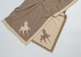 Saddlebred Horse Poncho Tan