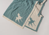 Saddlebred Horse Poncho Blue