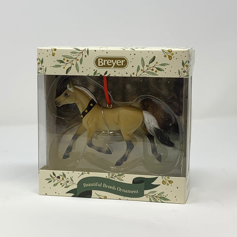Breyer 2019 Fjord Horse Beautiful Breeds Ornament Tan Horse with Bells Around Neck Figure in Box