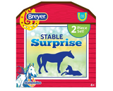 Breyer Stable Surprise Red Barn Shaped Box with Horse and Foal on It