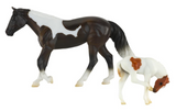 Breyer Stable Surprise Dark Brown and White Horse White and Light Brown Foal