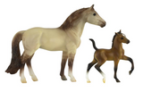 Breyer Stable Surprise Grey and Black Horse Brown and Black Foal