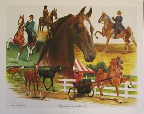 Larry Frederick The American Saddlebred Print