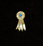 Ribbon Tack Pin Gold