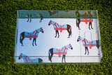 Horse and Tassel Lucite Tray