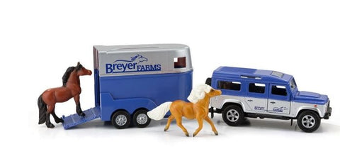 Breyer Land Rover and Trailer