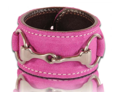 Bright Berry Suede Bit Cuff