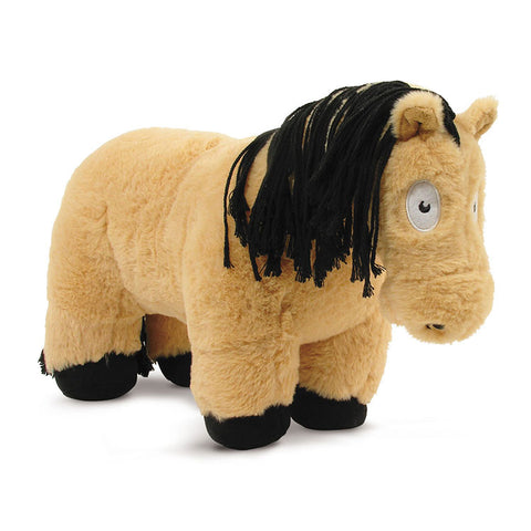 Crafty Pony Horse Stuffed Animal Tan with Black Mane, Tail, and Hooves