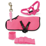 Crafty Pony Horse Blanket Halter Lead and Wraps Pink