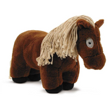 Crafty Pony Horse Stuffed Animal Brown with Tan Mane and Tail, and Black Hooves