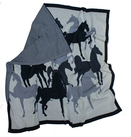 American Saddlebred Horse Throw Grey