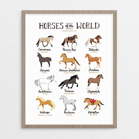 Horses of the World Art Print