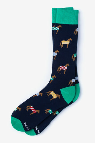 Men's Horsin' Around Socks in Navy