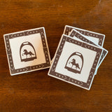 Coaster-Sandstone- Stirrup w/Saddlebred Set of 4