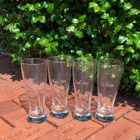 Saddlebred Sayings Pilsner Glasses