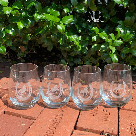 Saddlebred Stemless Wine Glasses