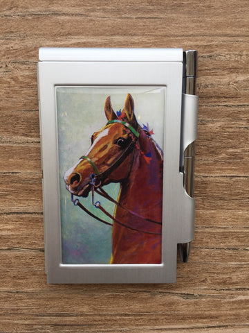 Saddlebred Horse Flip Notepad with Pen