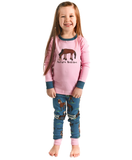 "Girls ""Pasture Bedtime"" Pajama Set"
