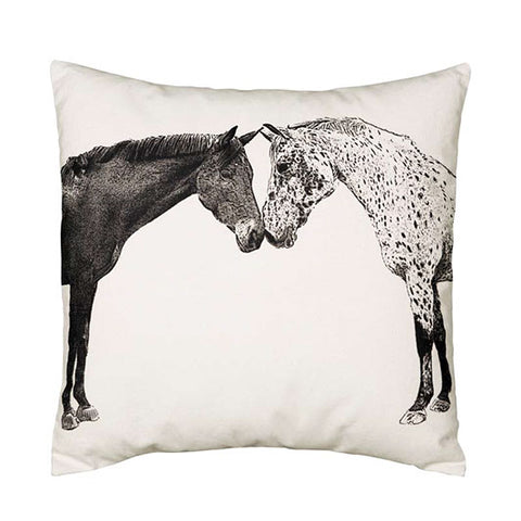 Kissing Horses Pillow
