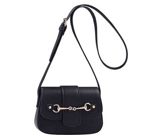 Black Snaffle Bit Cross Body Purse