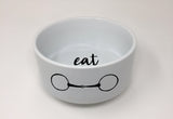 "Maizie Clarke Pet ""Eat"" Bowl"